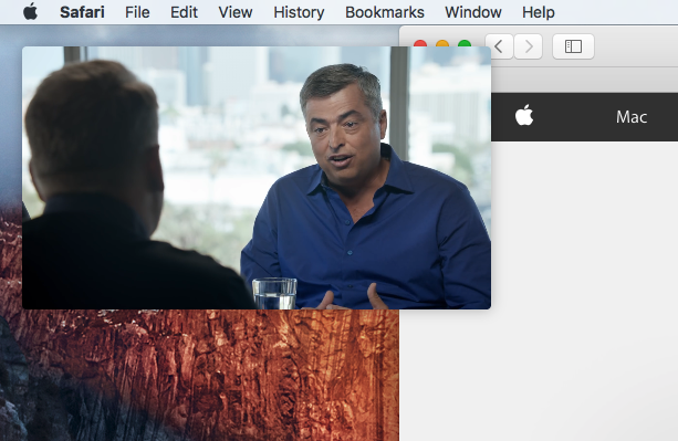 macOS Sierra picture in picture