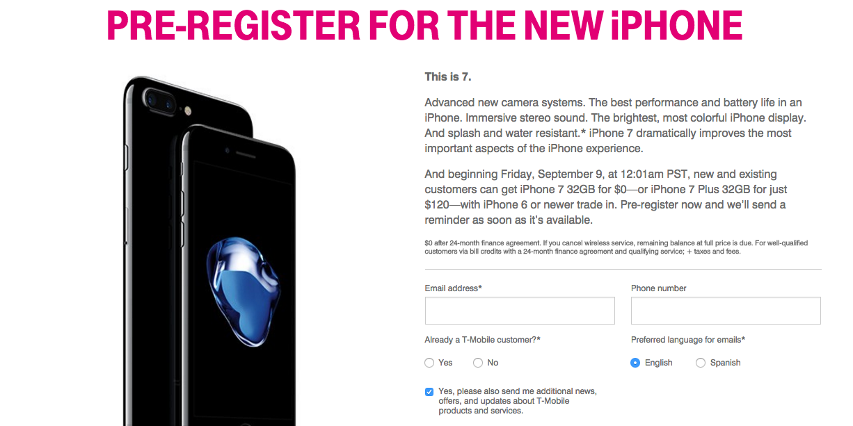 T Mobile Offers Free Iphone 7 To Anyone