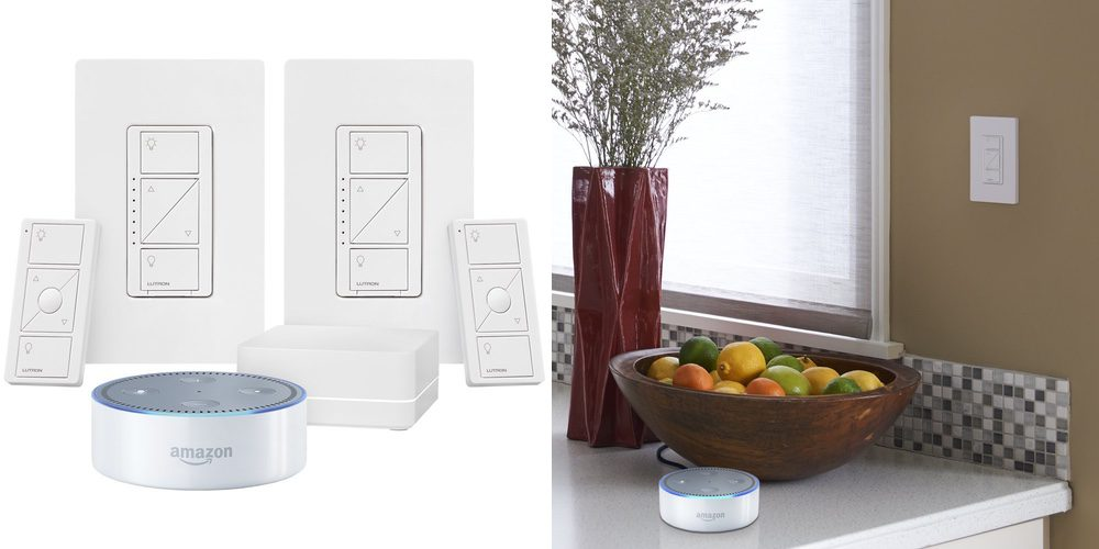 all-new-echo-dot-2nd-generation-white-lutron-caseta-wireless-deluxe-smart-lighting-control-kit