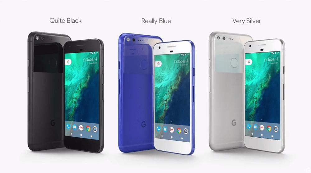 Google Pixel colors
