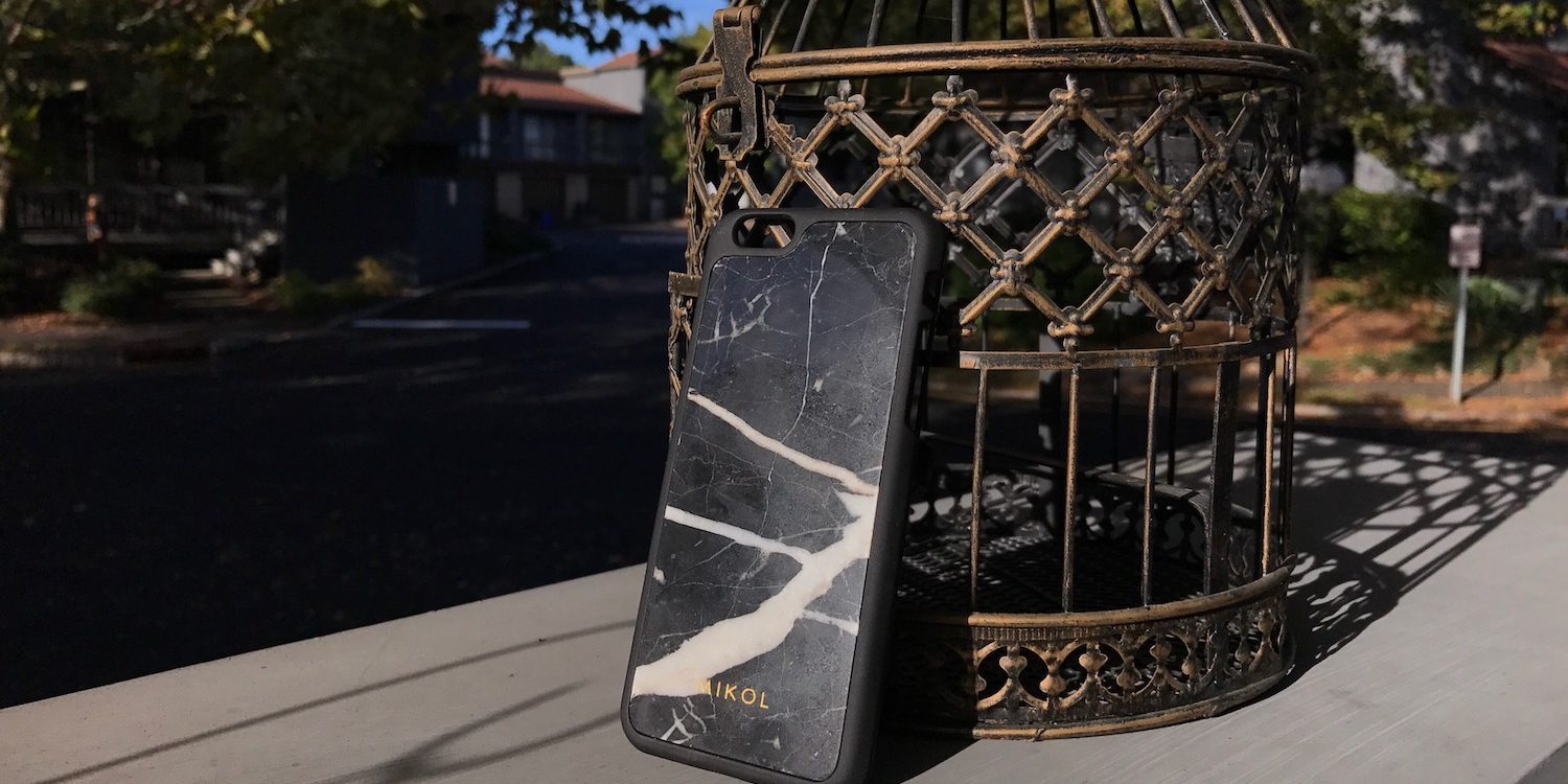 Nero Marquina Marble iPhone Case along birdcage