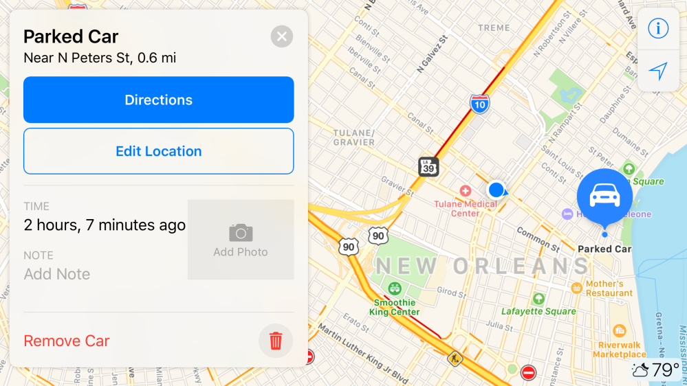 How to use or enable/disable Parked Car alerts from Maps on