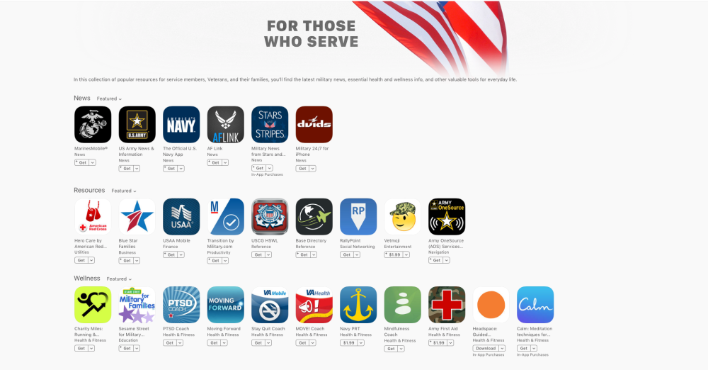 Veterans Day App Store