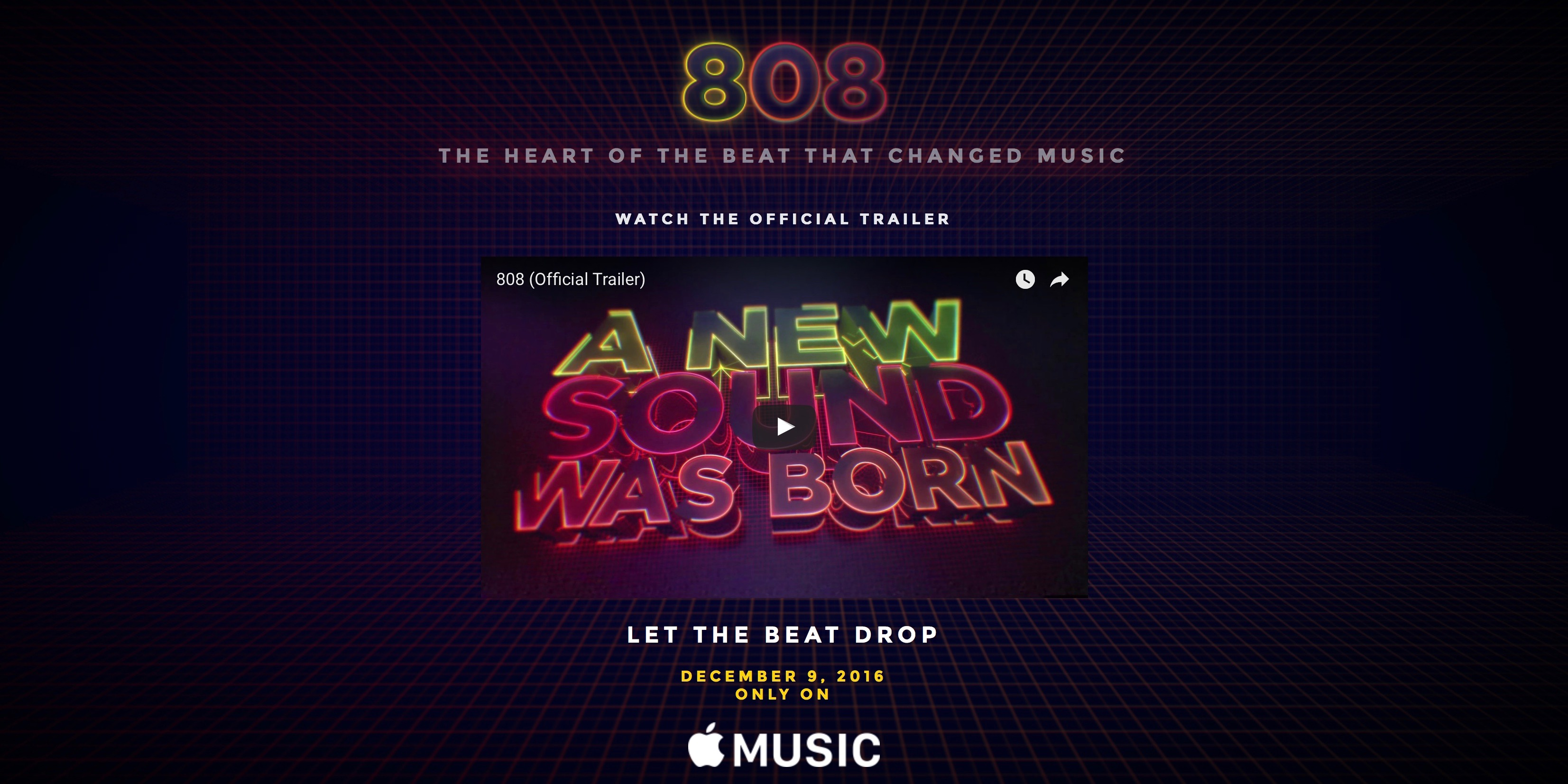 Apple's first original documentary '808: The Movie' now available