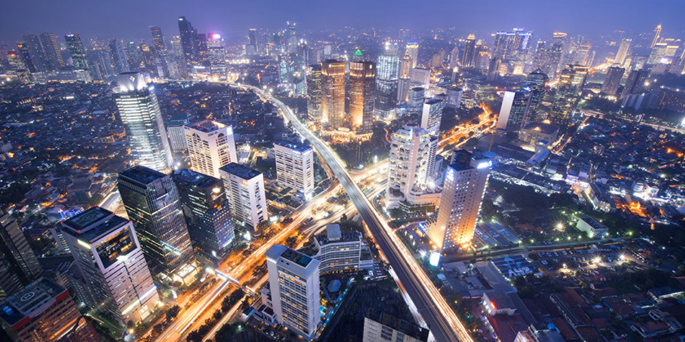 Jakarta, capital of Indonesia, the world's fourth largest country by population