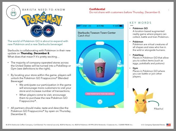 Pokemon Go Starbucks