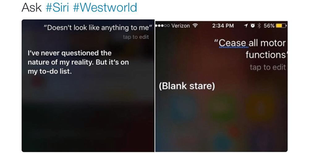 Evan Rachel Wood reveals that Siri is a bit of a Westworld fan
