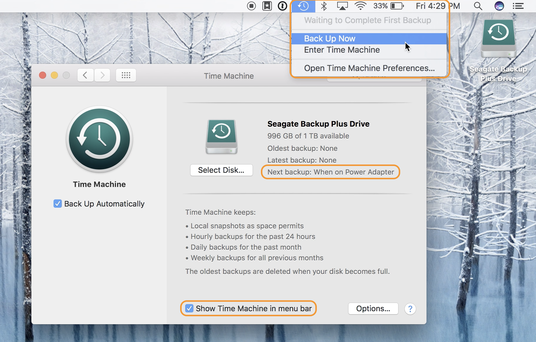 How to backup a Mac to Time Machine with any hard drive