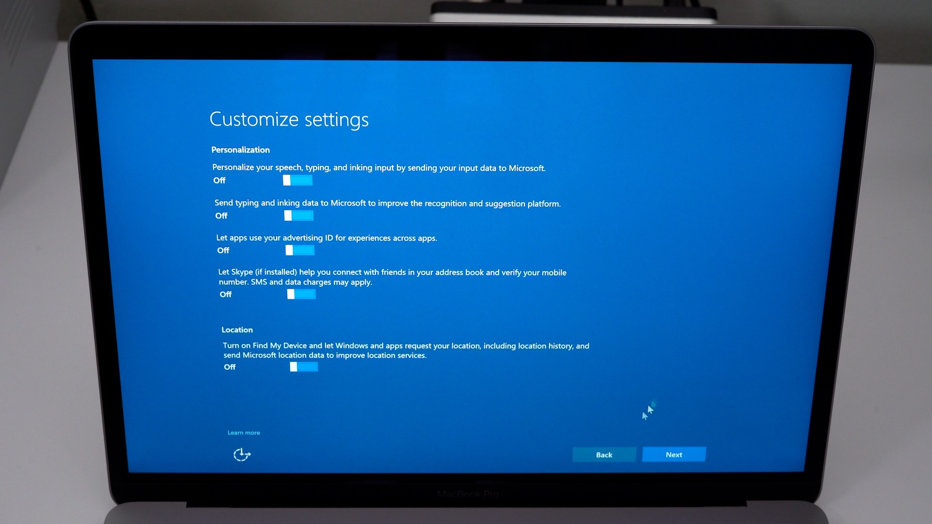 windows-10-boot-camp-customize-settings