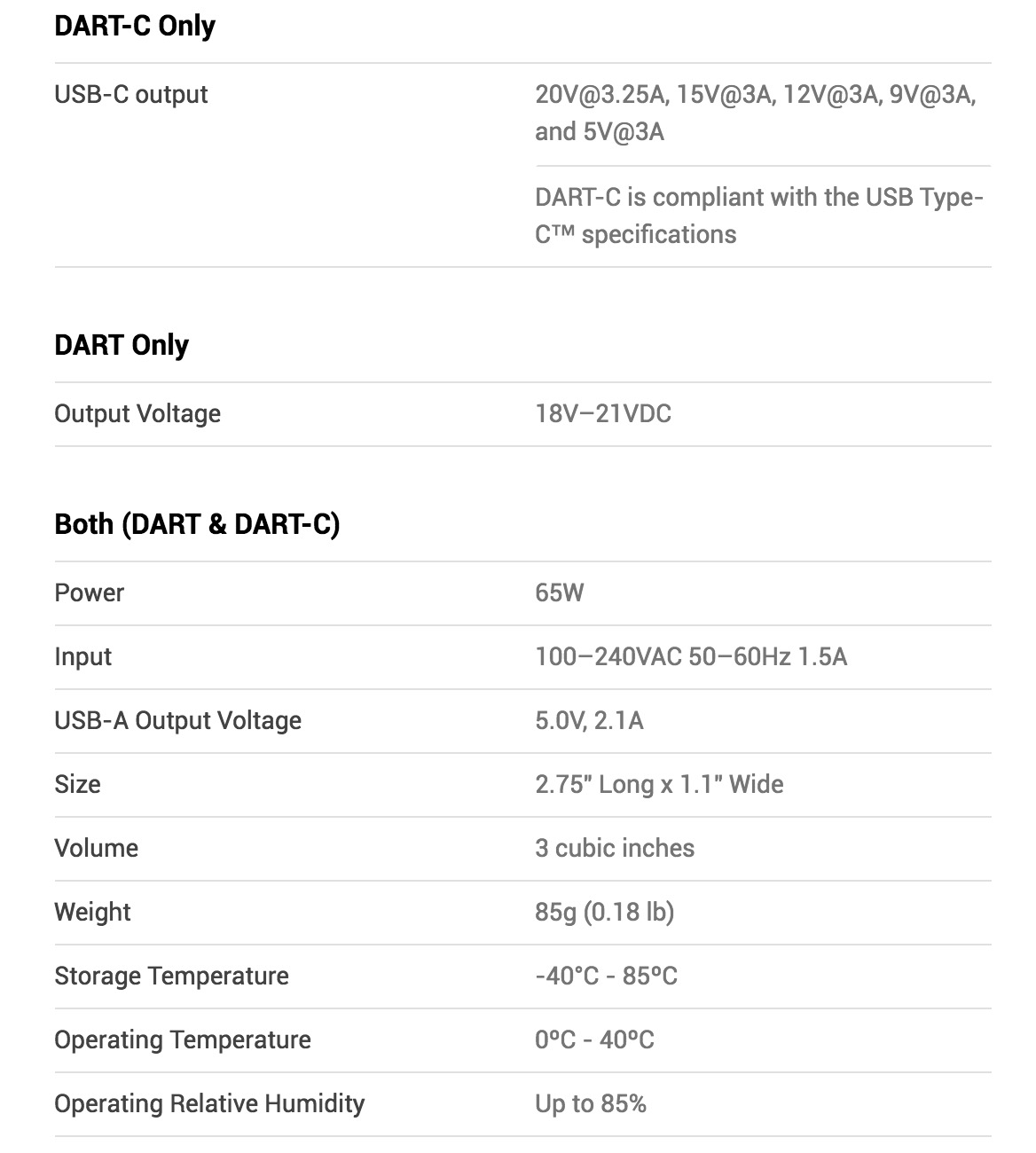 dart-charger-specs