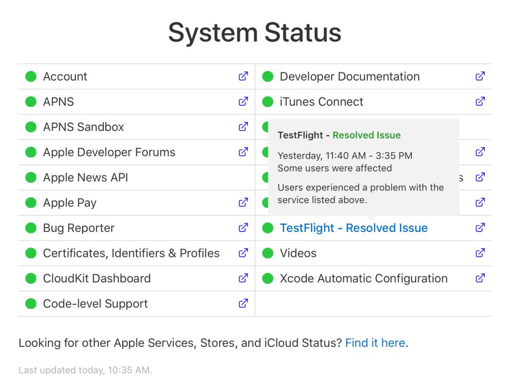 developer-system-status-page