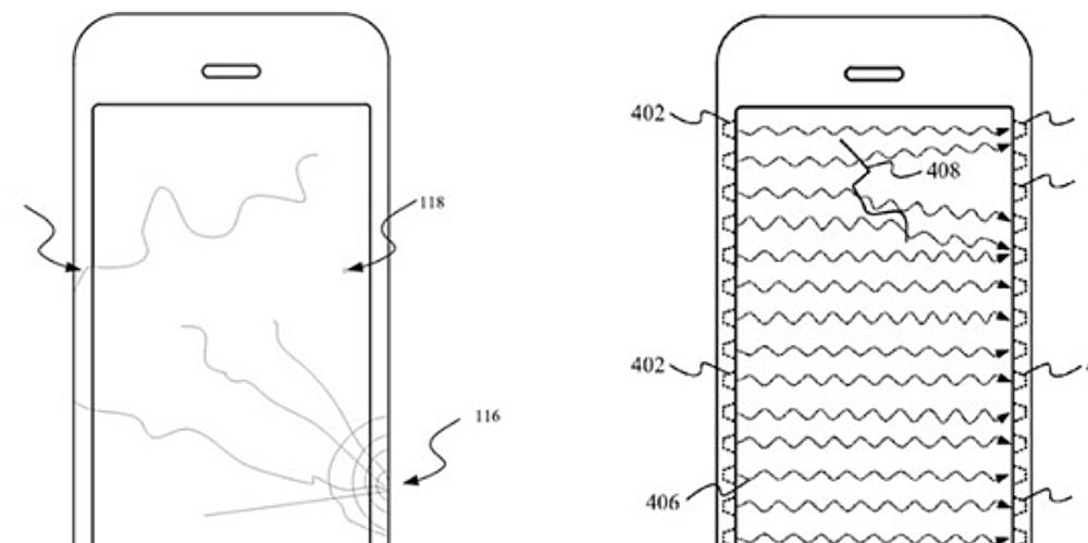 iphone screen crack patent