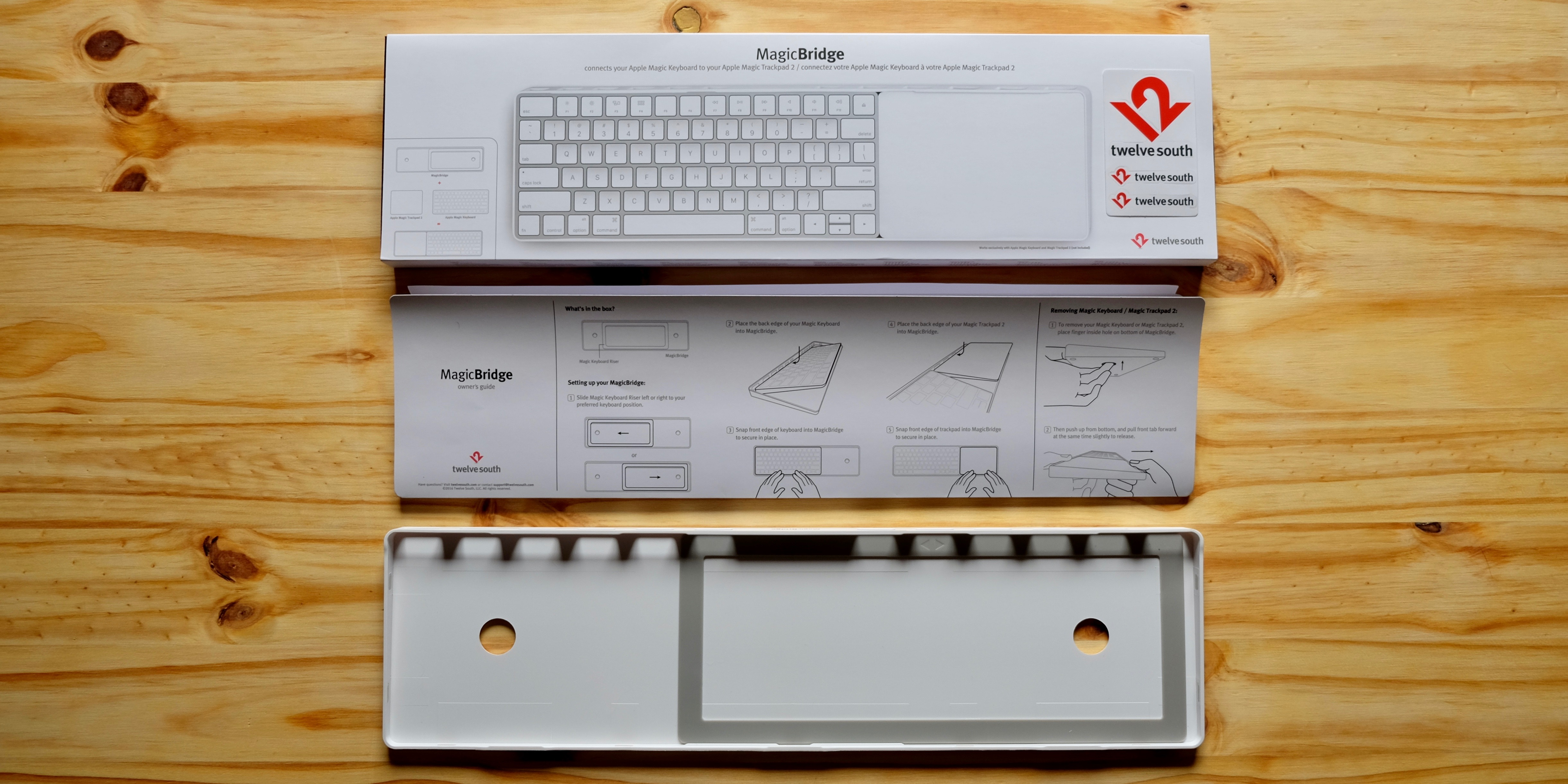 MagicBridge Magic keyboard and Magic Trackpad 2 accessory