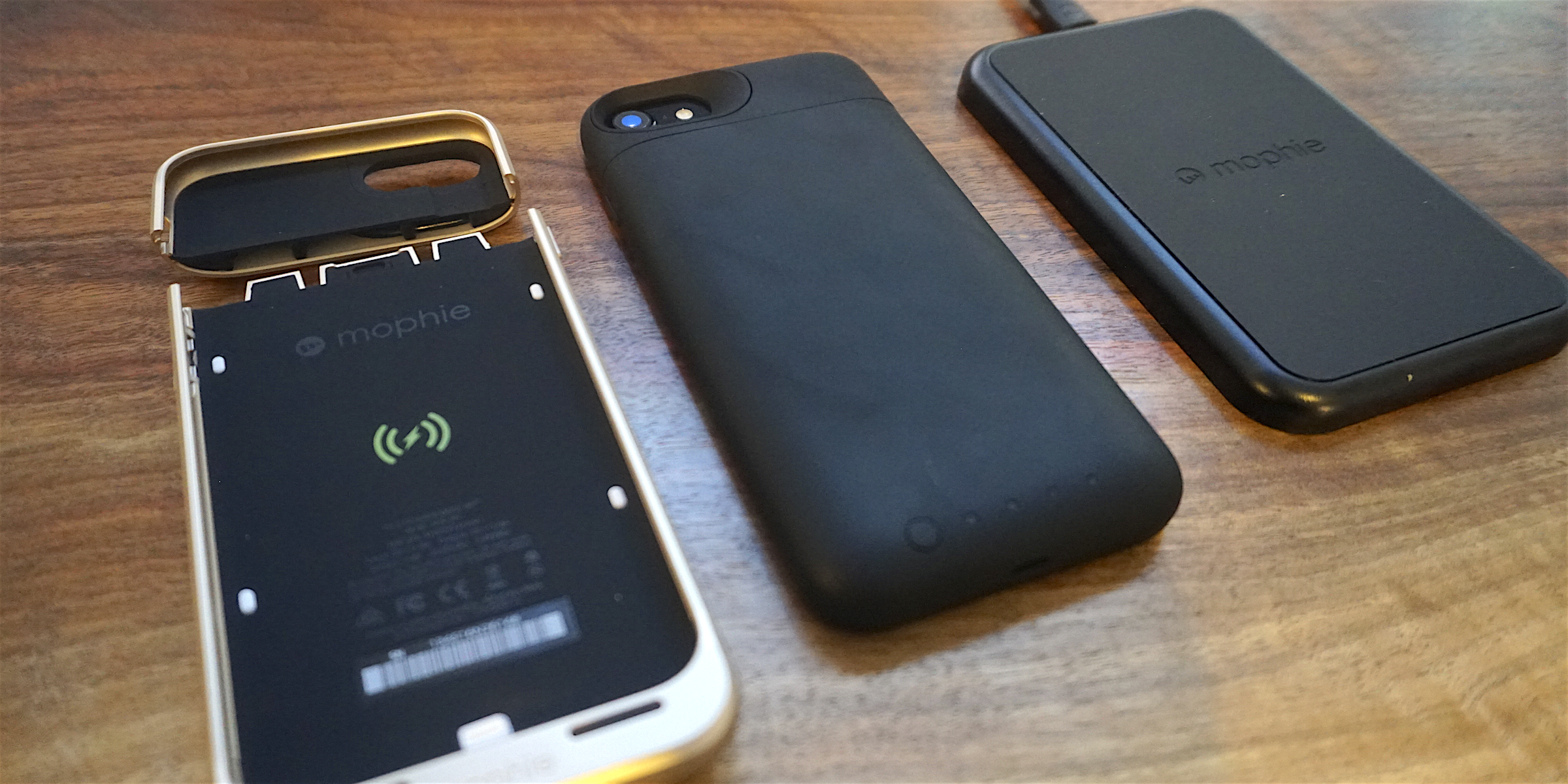 Review Mophie Juice Pack Air Battery Case For Iphone 7 W Qi Wireless Charging Base 9to5mac For $100, it's a great value. mophie juice pack air battery case for