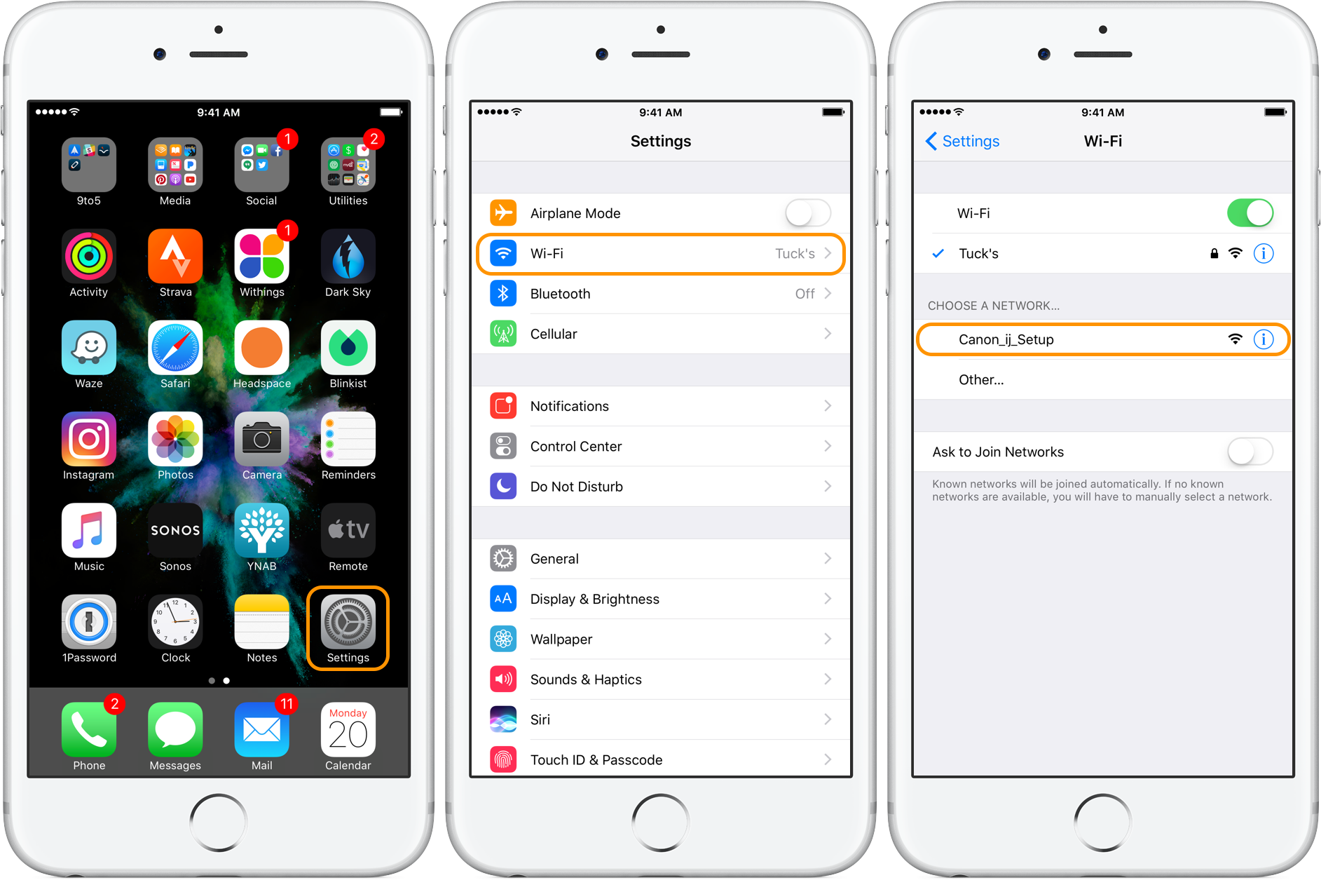How to setup wifi direct on iphone 6