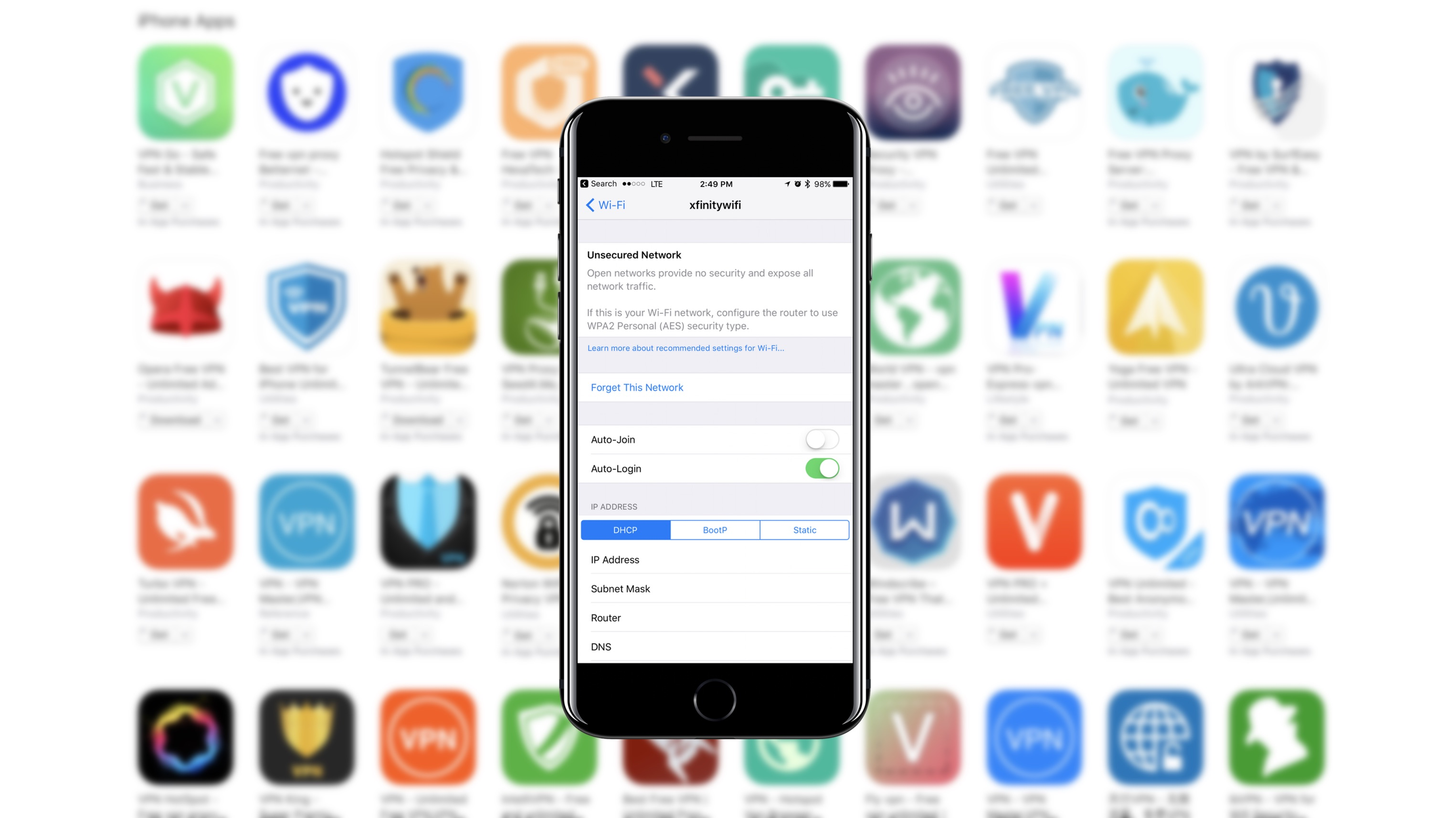 iOS App Store VPN apps