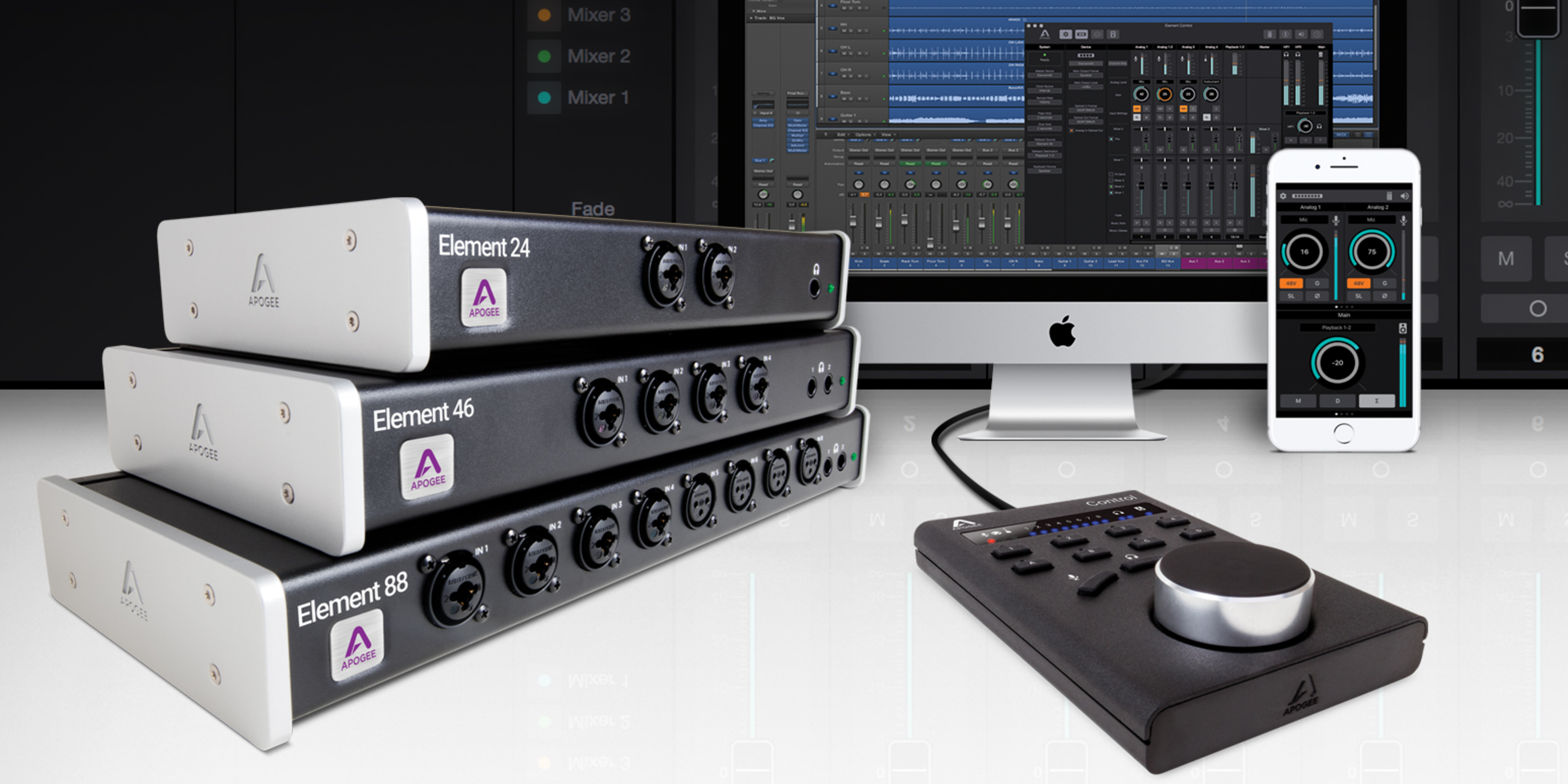 Logic Pros Review Apogee S New Element Audio Interfaces W Dedicated Mac Ios Apps Remote Accessory 9to5mac