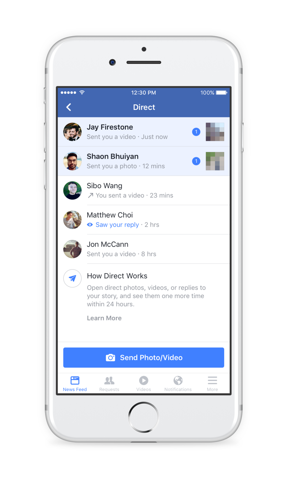 Facebook adds ephemeral Stories and 3D camera effects to its main