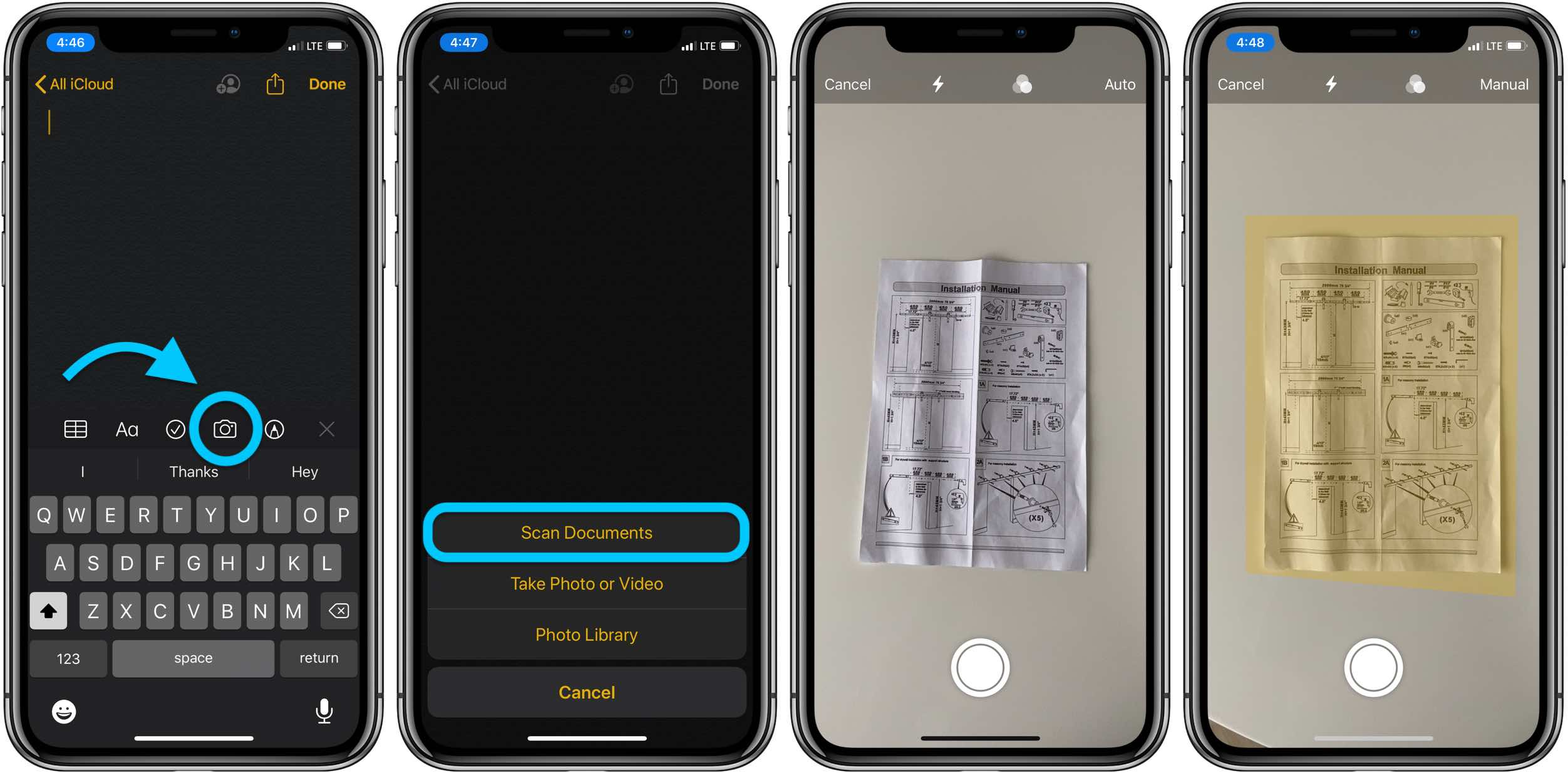 How to scan with iPhone iOS notes app walkthrough 1