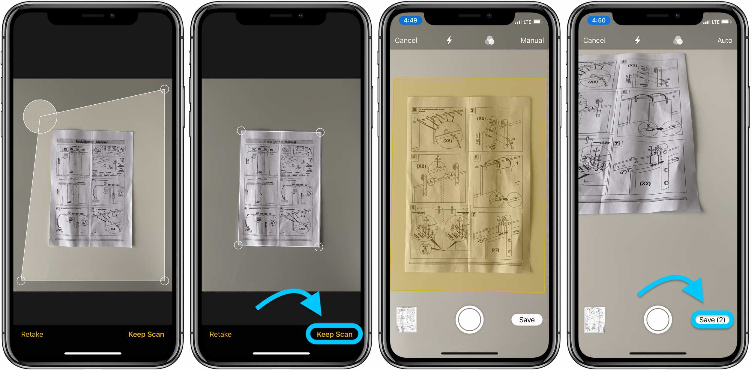 How to scan with iPhone iOS notes app walkthrough 2