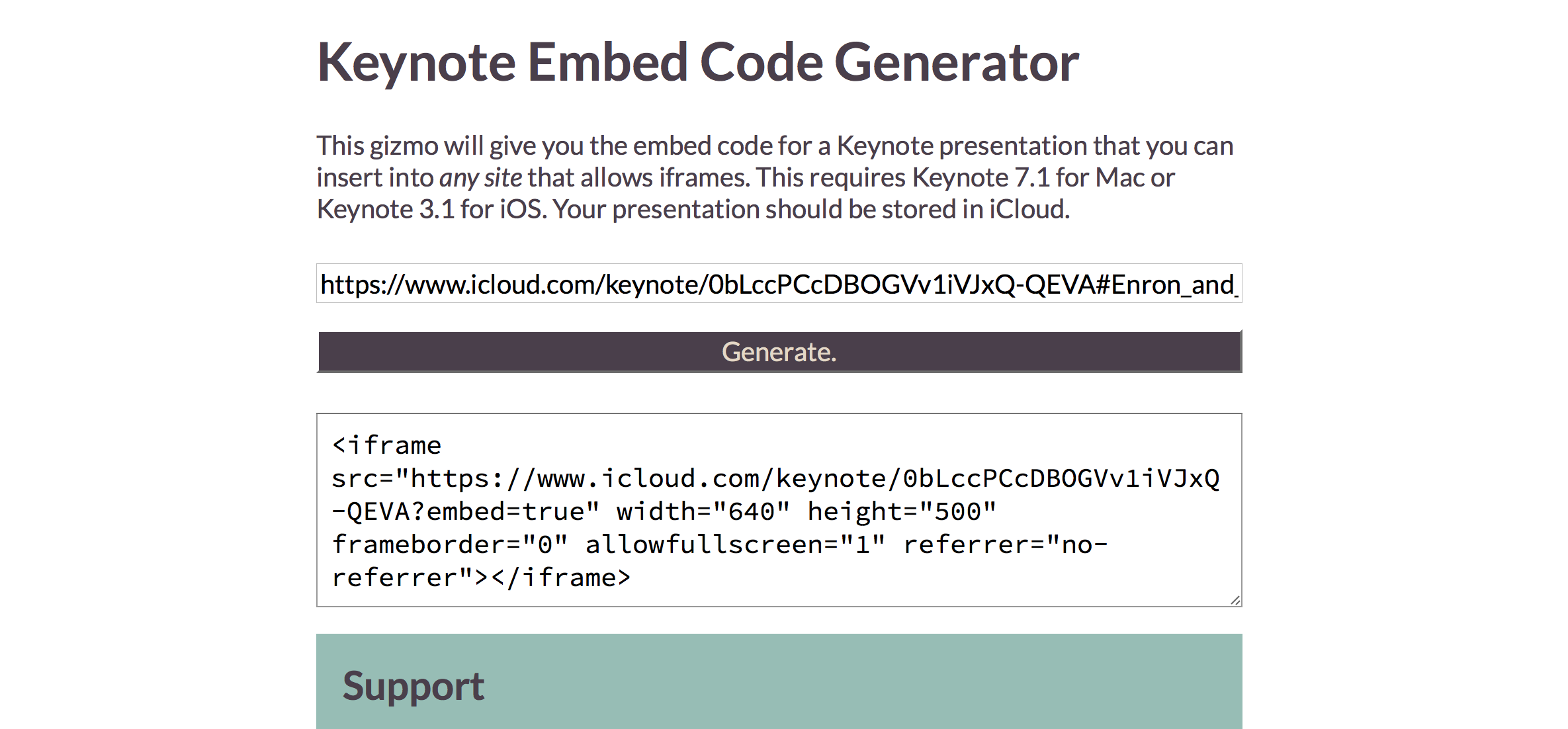 How to embed Keynote presentations in blogs and websites with the