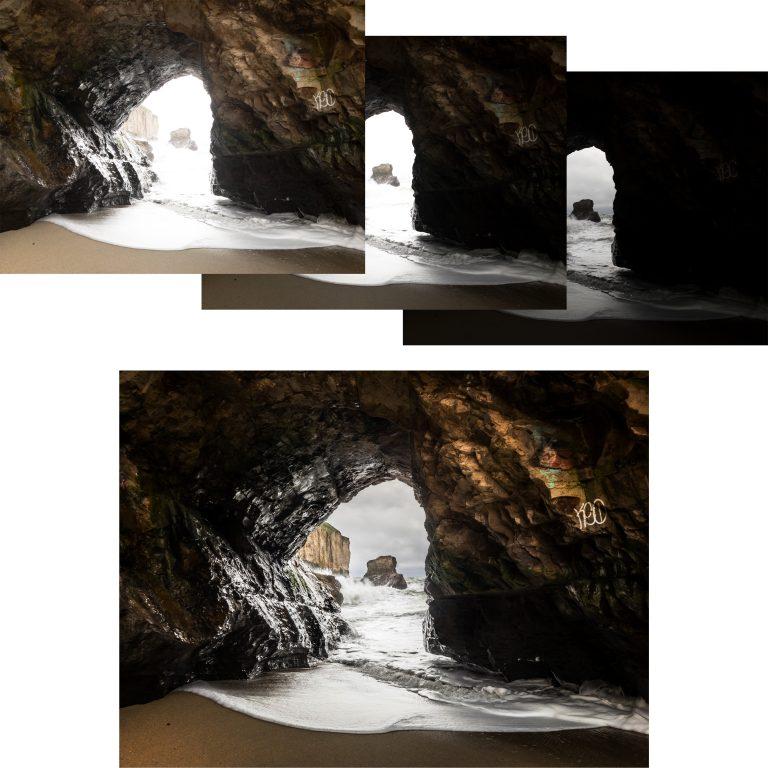 three-image-hdr-merge