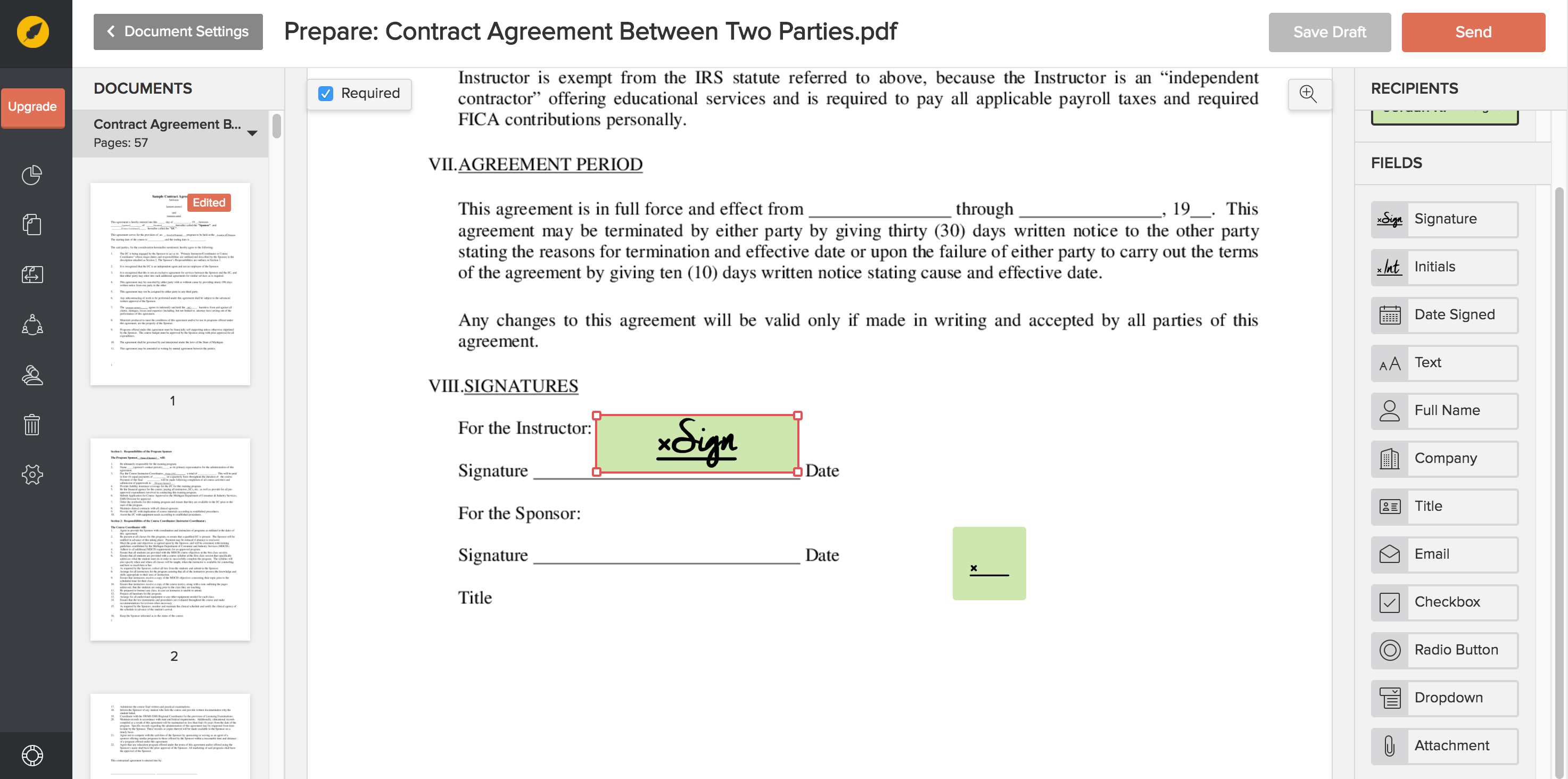 Eversign Makes Legally Binding Digital Signatures Online And In - Legally binding document
