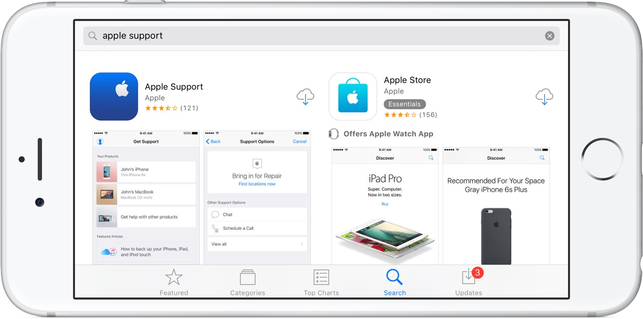 Image showing the Apple Support app on the App Store