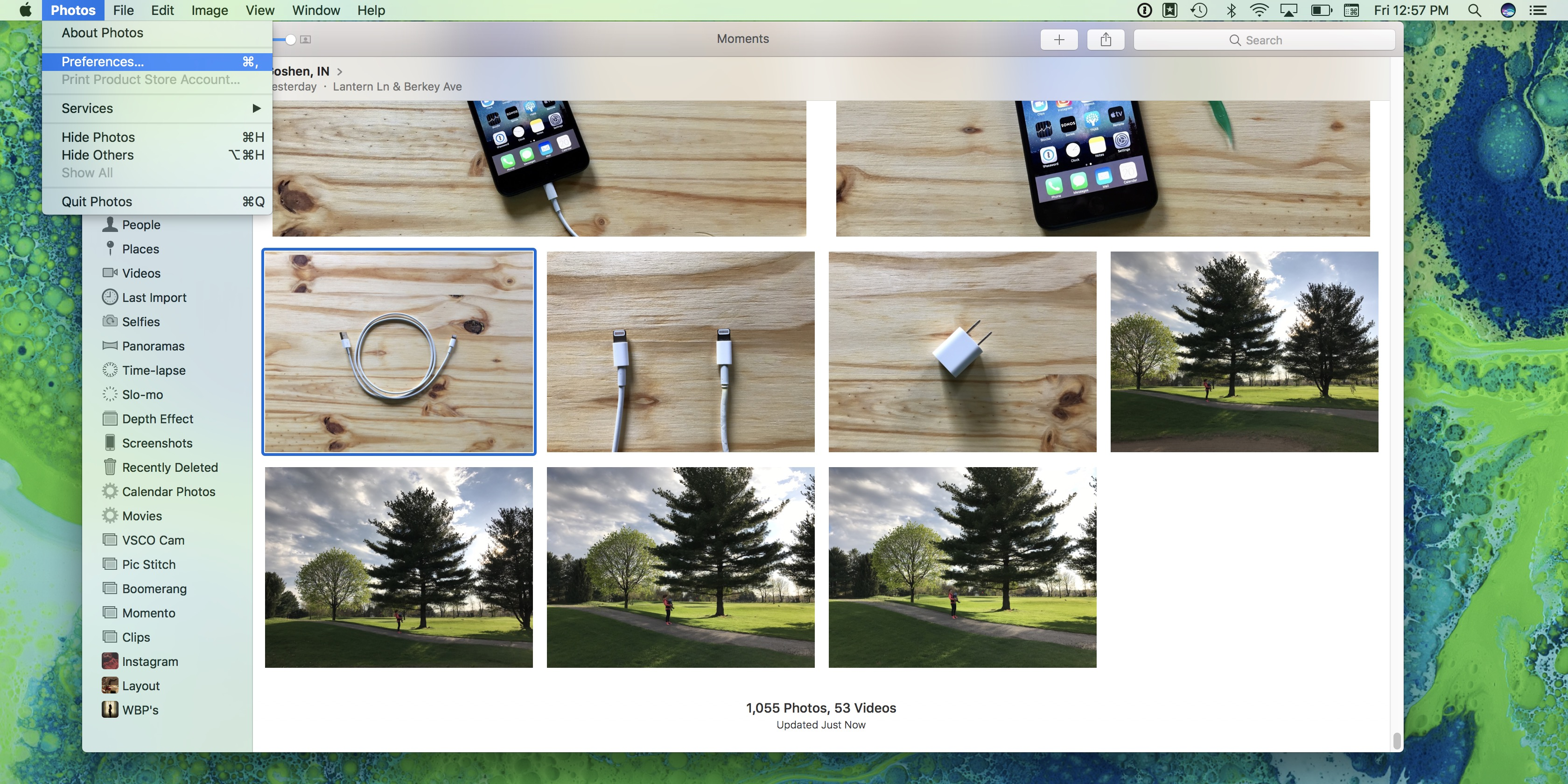 Image of macOS showing the Photos application
