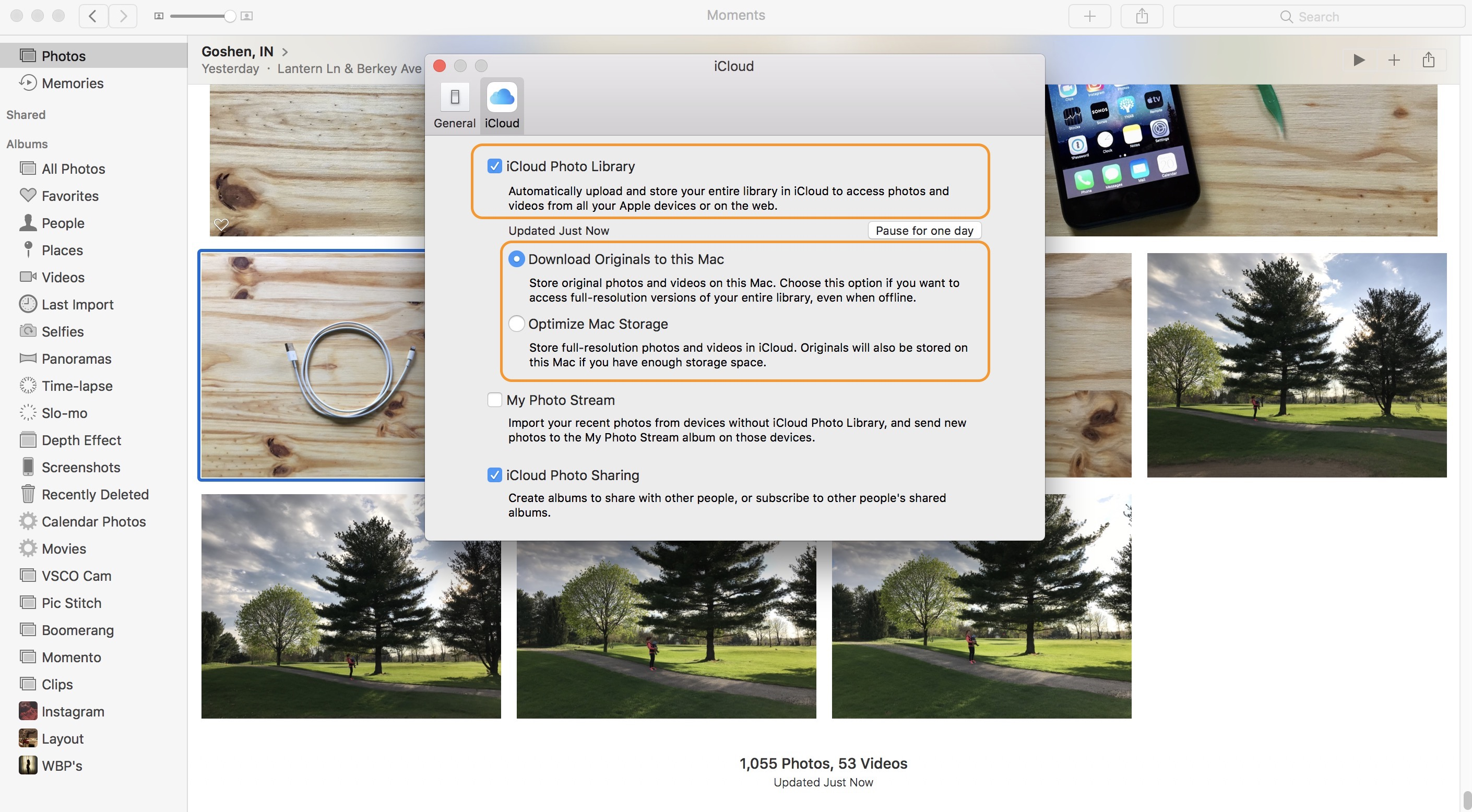 Image showing the macOS Photos application preferences