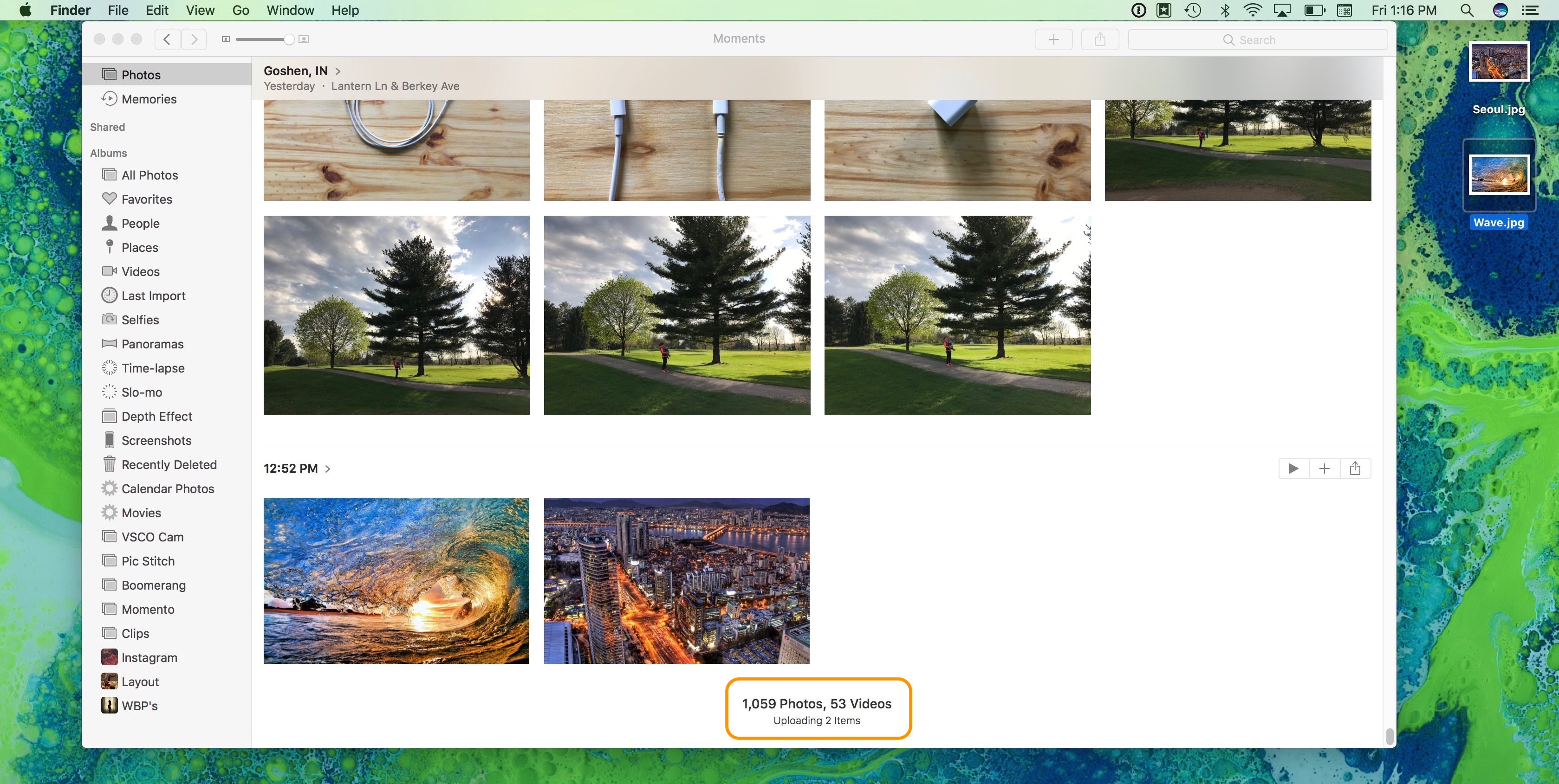 How to import photos to icloud photo library