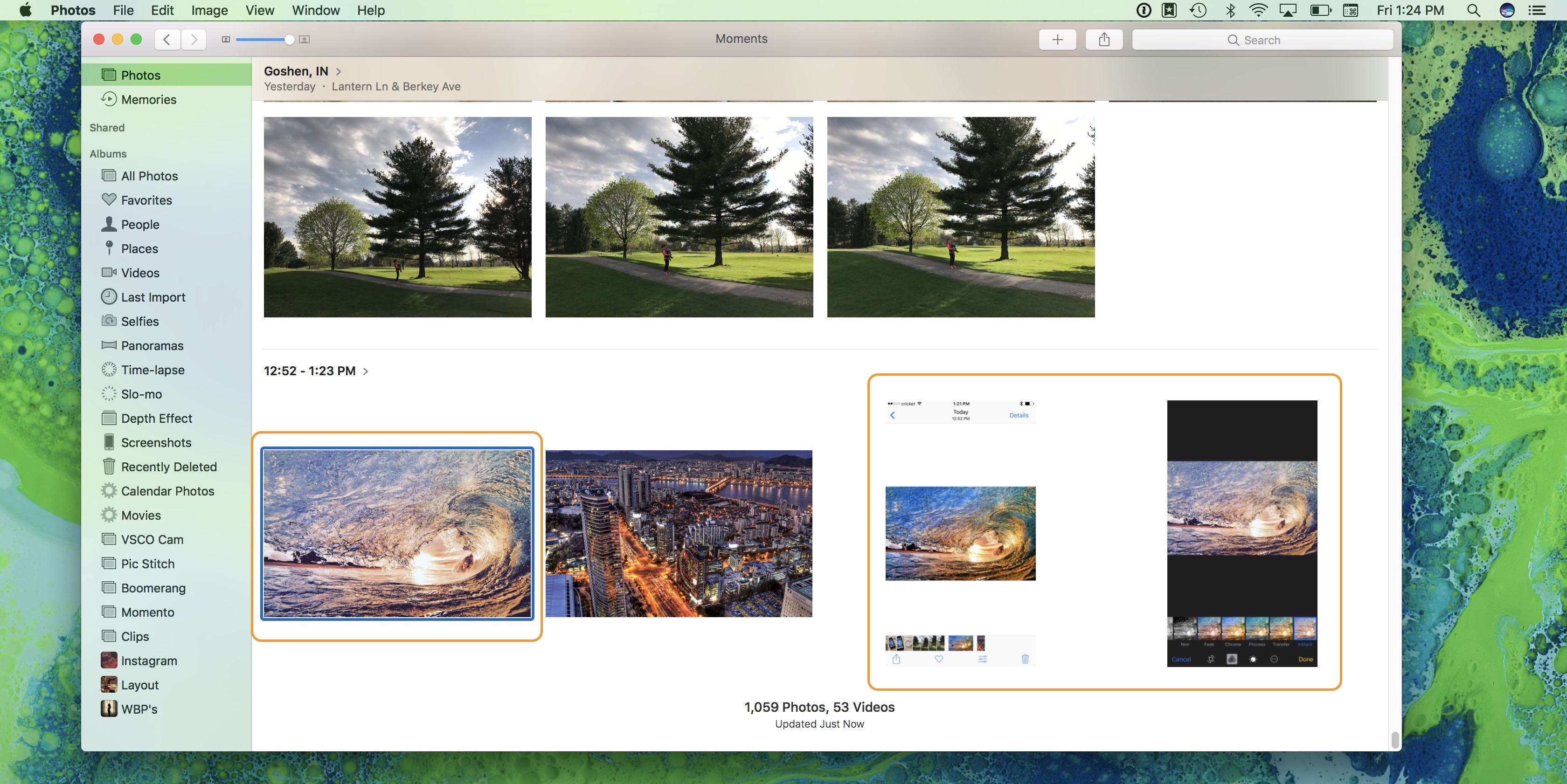 Image showing synchronized photo edits across Apple devices