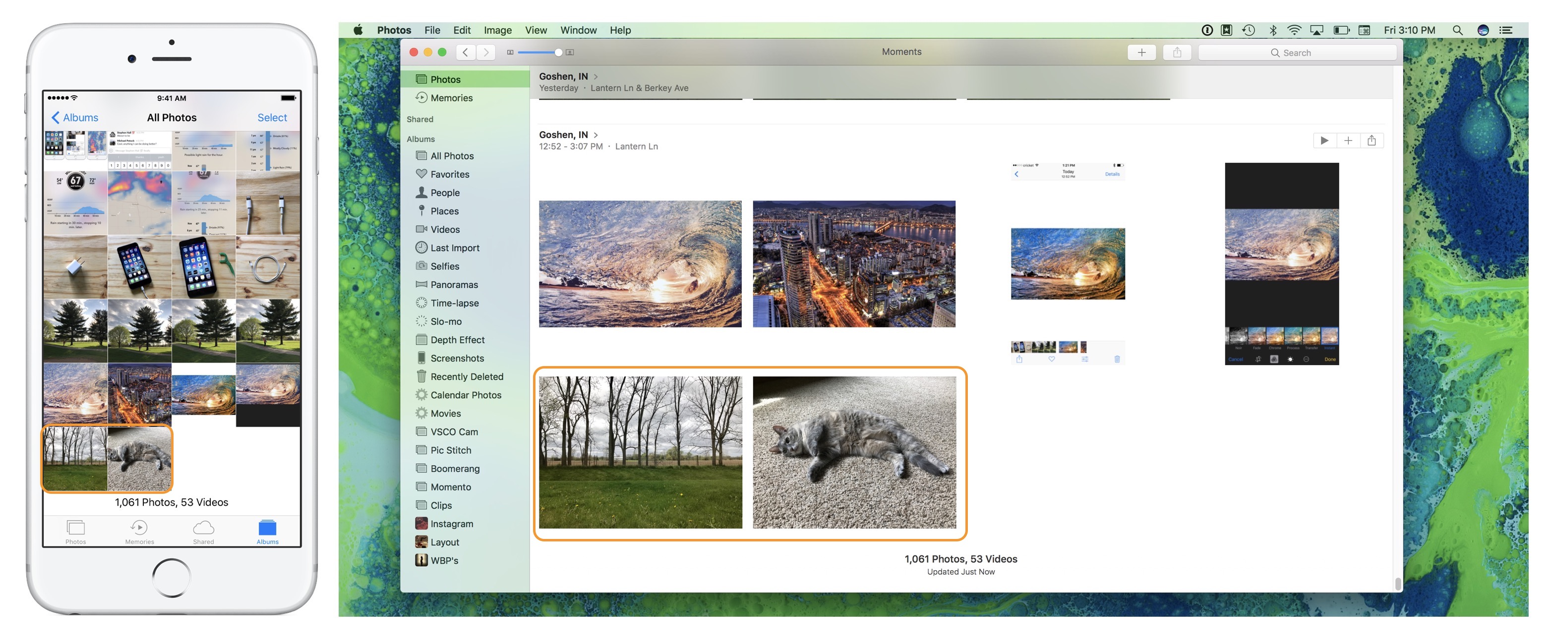 Image showing Photos on iPhone and Mac