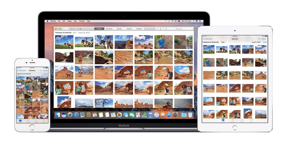Image of Apple's Photo application on iPhone, iPad, and Mac