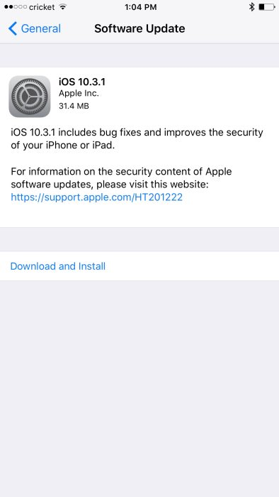 Apple releases iOS 10 3 1 with bug fixes & improved security for