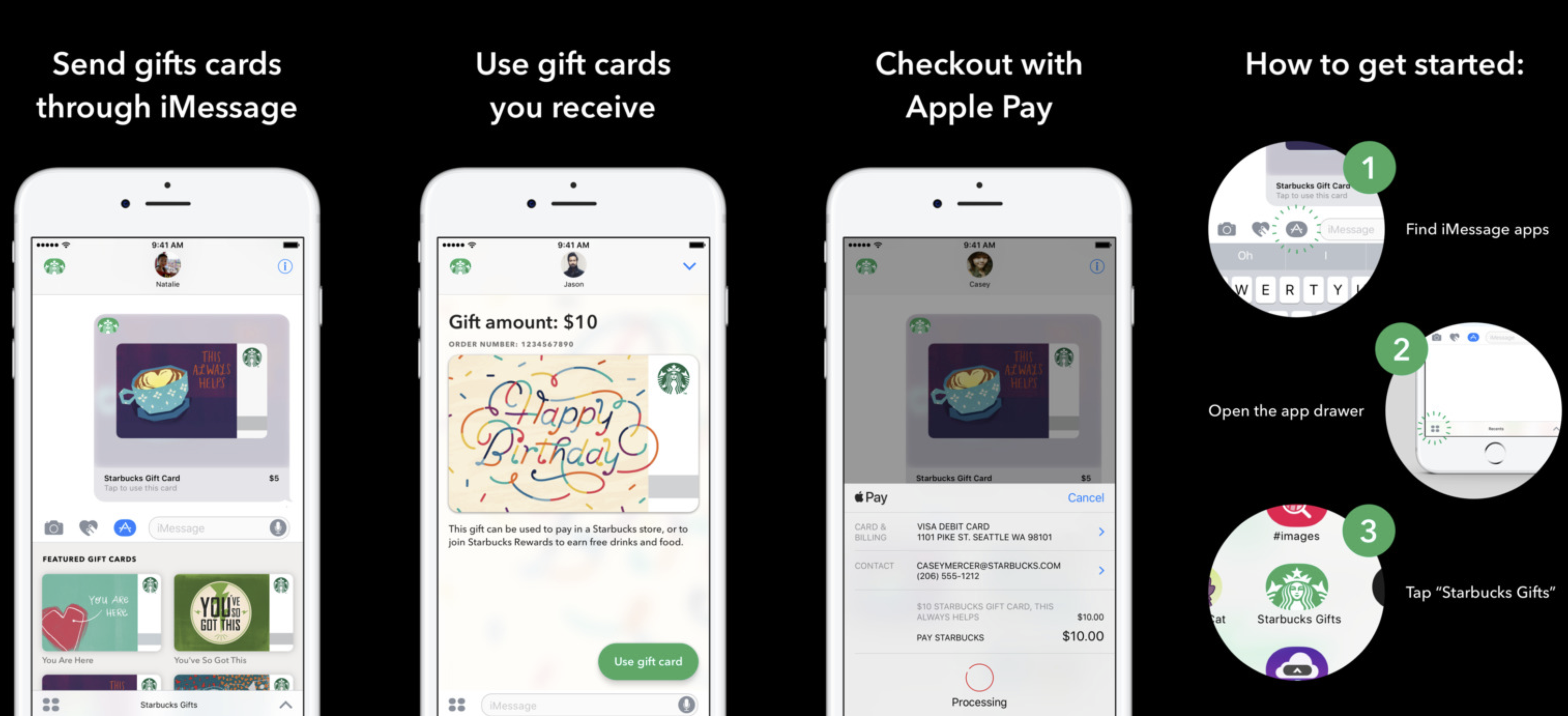 Starbucks For Iphone Adds Imessage App For Sending Gift Cards With Apple Pay More 9to5mac