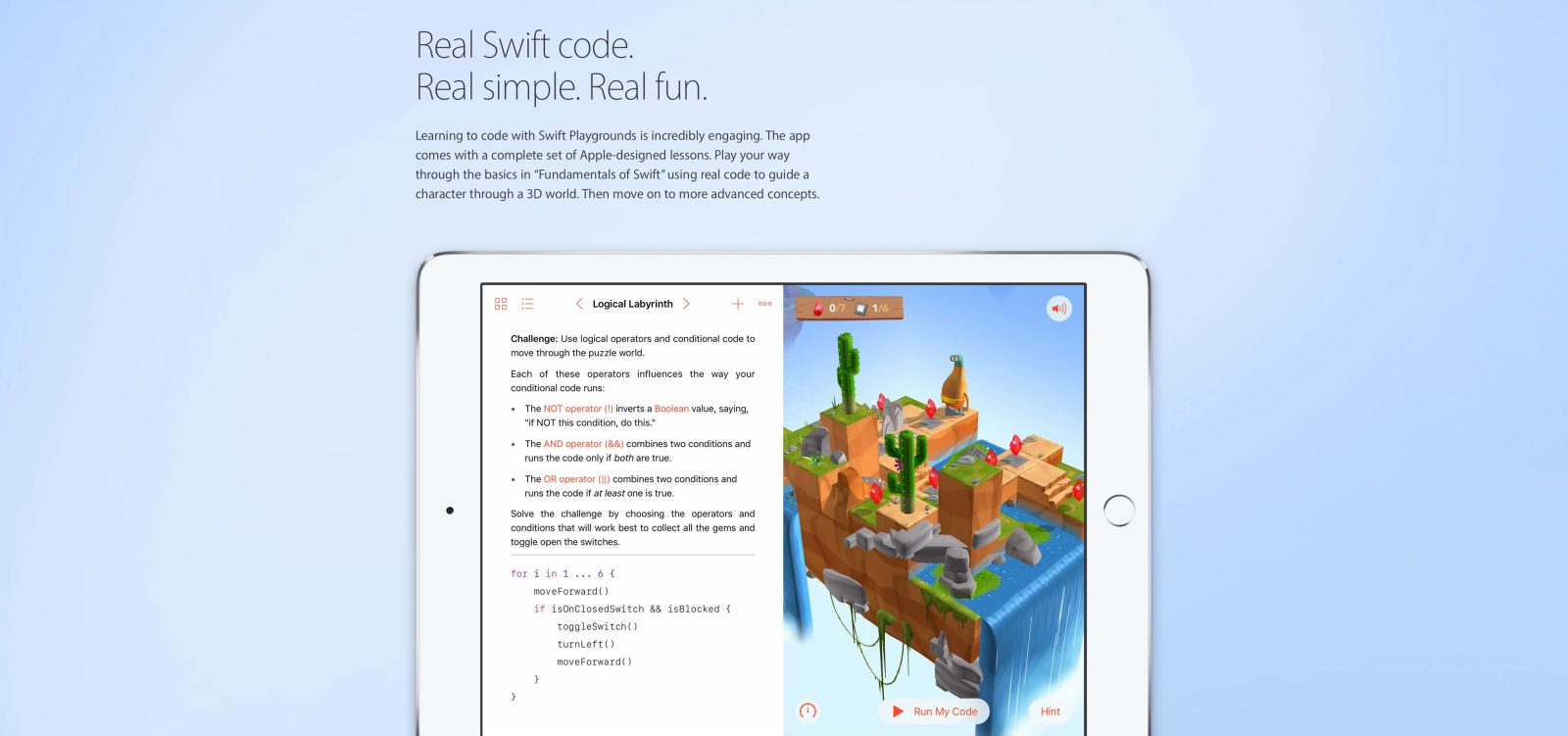 Swift Playgrounds for iPad adds improved third-party content