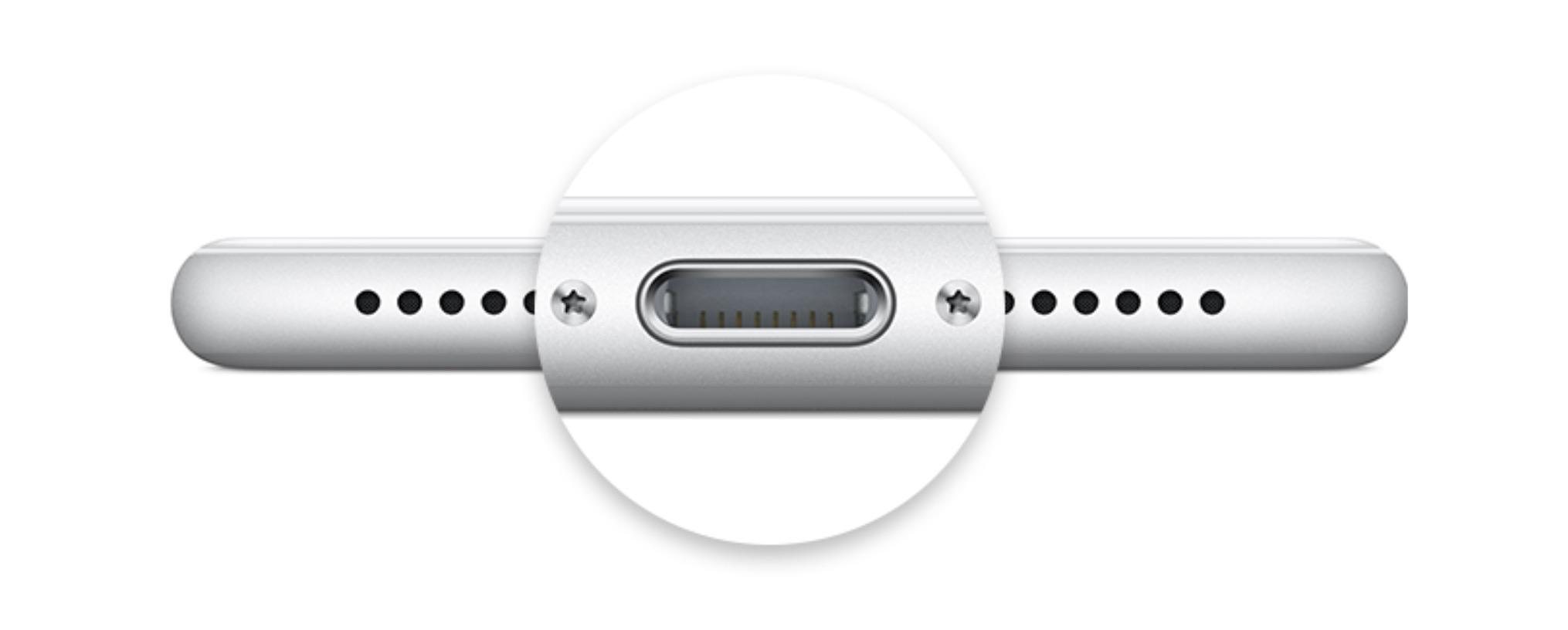 Close up image of Apple's Lightning port