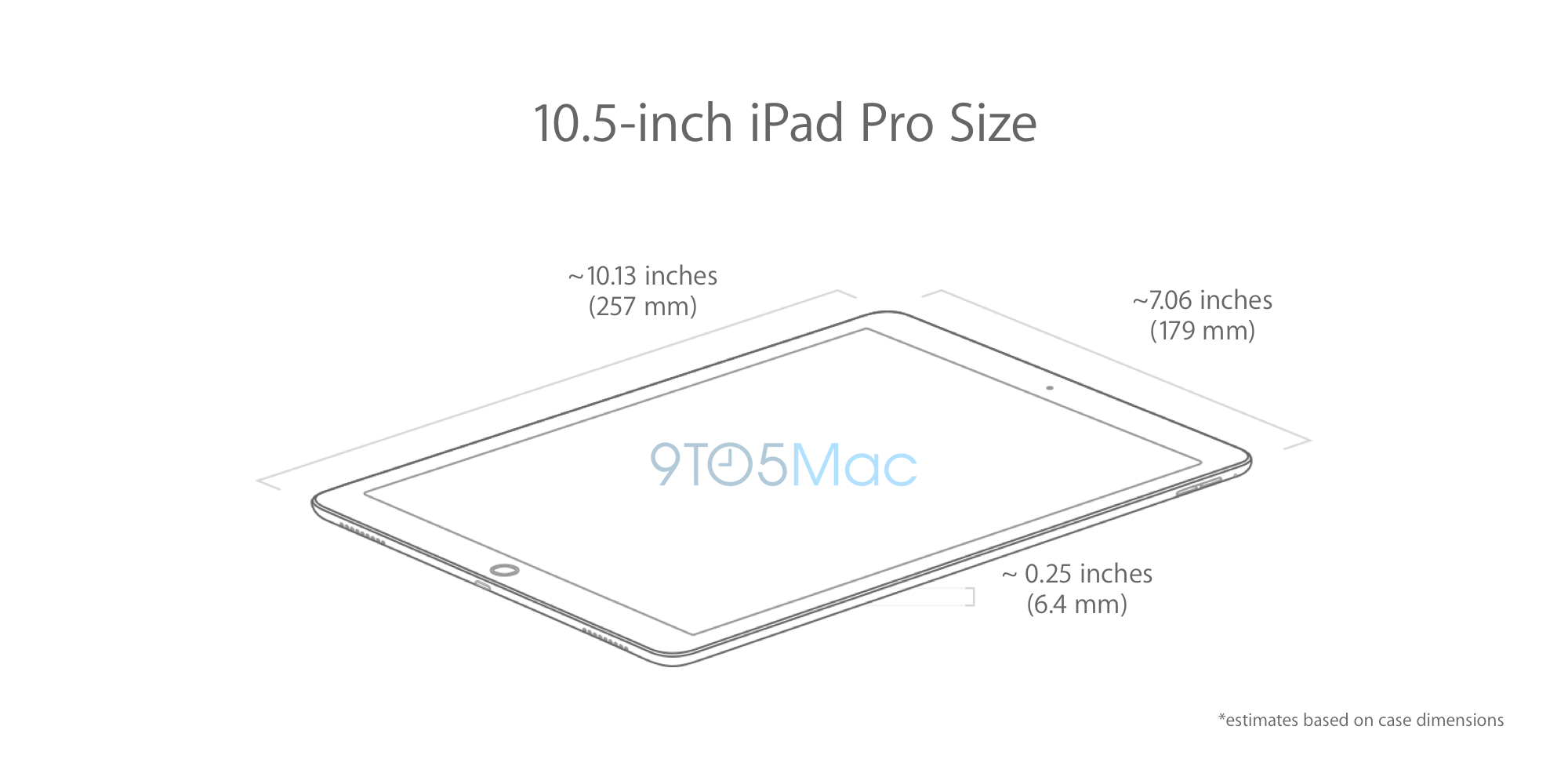 hands on with a 10 5 inch ipad pro case and dimension details 9to5mac