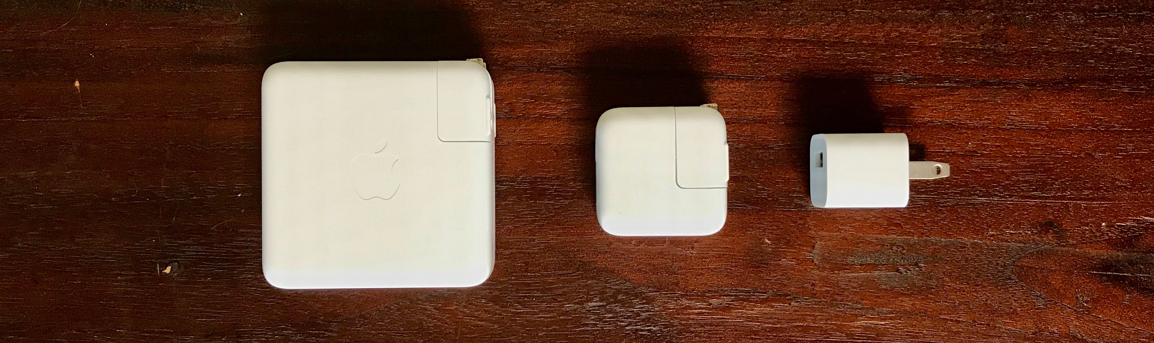 Image showing 5W, 12W and 87W power adapters