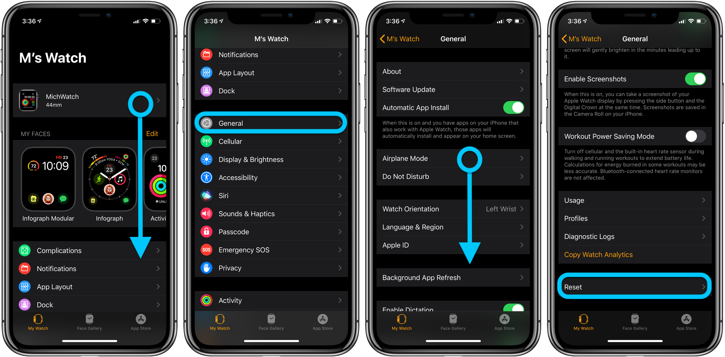 How to reset Apple Watch walkthrough 1