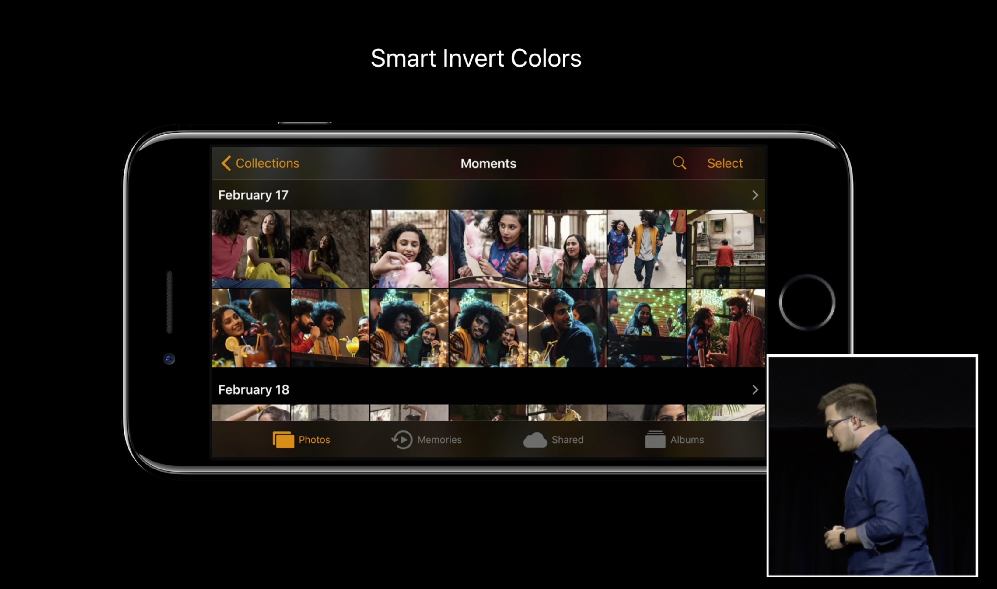 New for Accessibility: 'Smart Invert Colors' in iOS 11