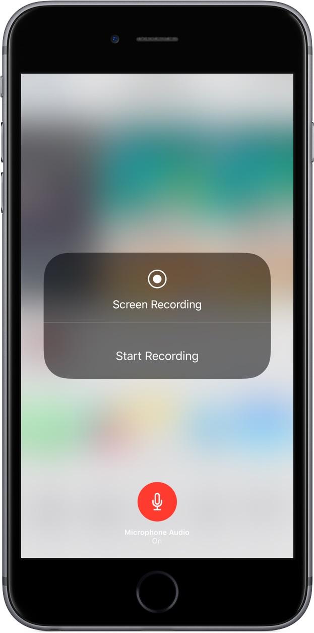 iOS 11 Screen Recording Microphone Audio