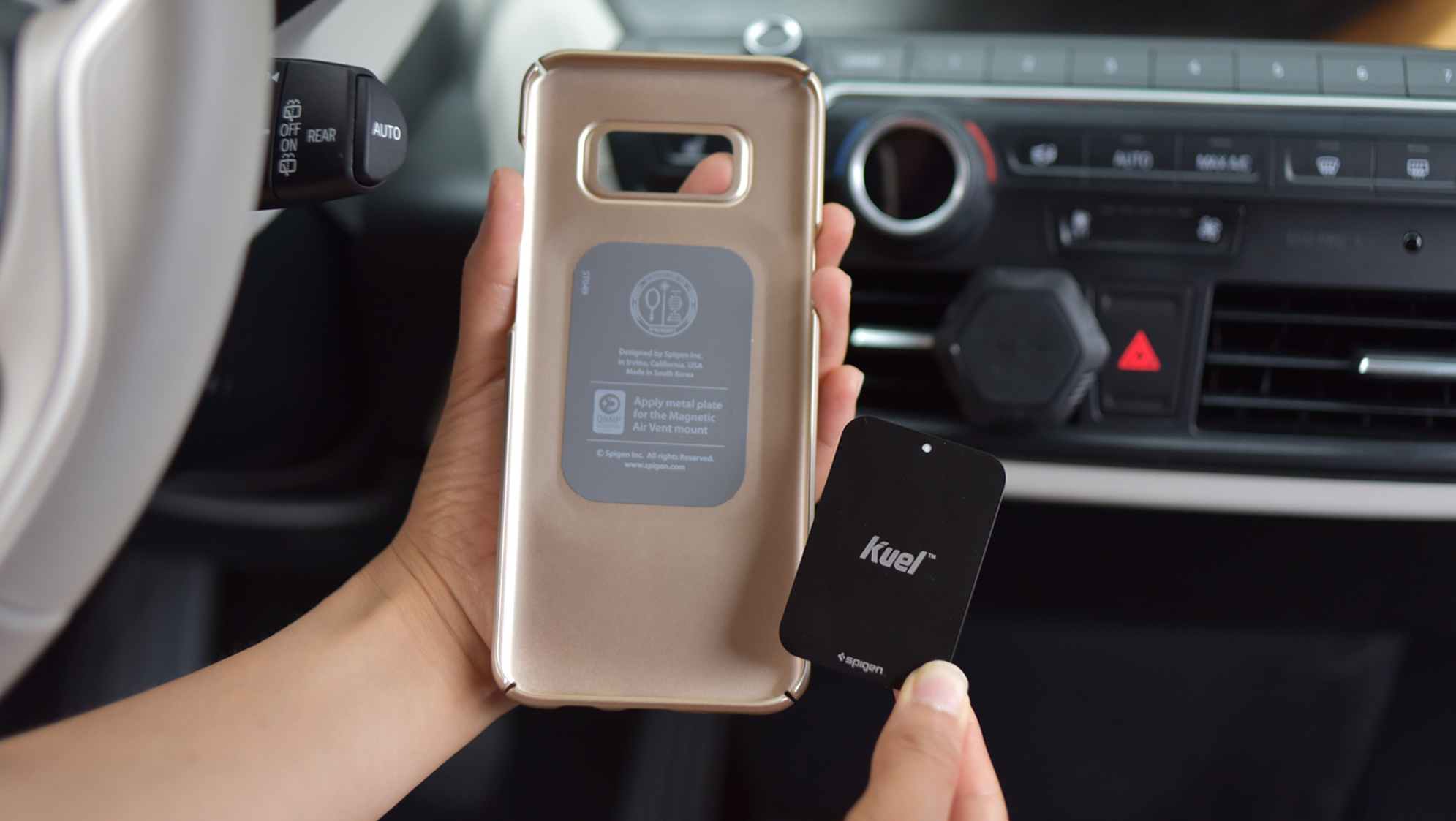 newest b04c1 f2d02 Get Spigen's super slim Kuel QS11 Magnetic Car iPhone Mount for ...