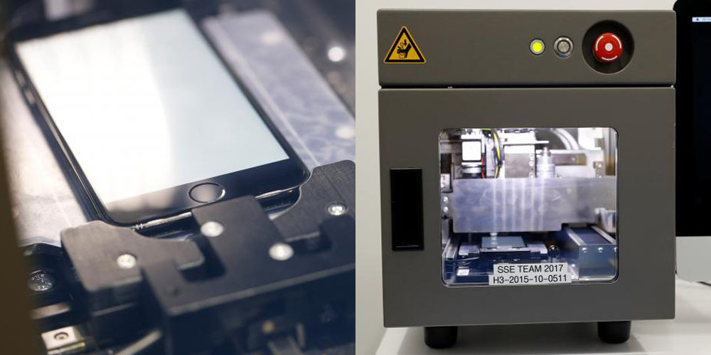 First Look At Apple S Iphone Screen Repair Machine In Action As It Comes To Best Buy Amp Other
