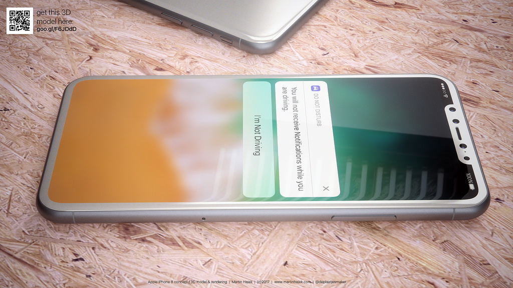Latest renders imagine the iPhone 8 in white, showing glass body + reduced bezels [Gallery]