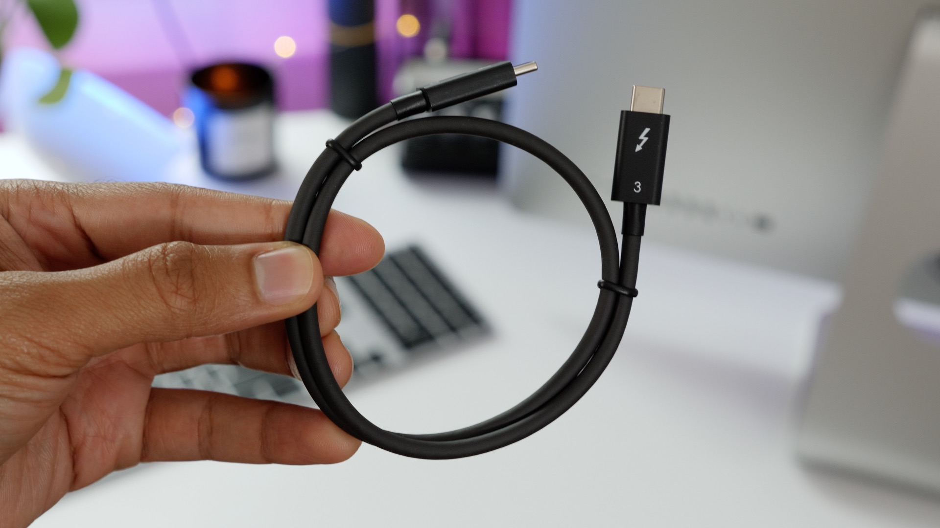 It's nice to have an included Thunderbolt 3 cable, but the cable is quite short