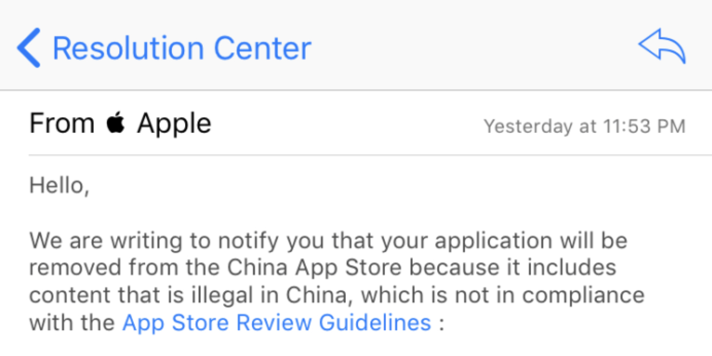 Apple removes VPN apps from App Store in China to comply with local