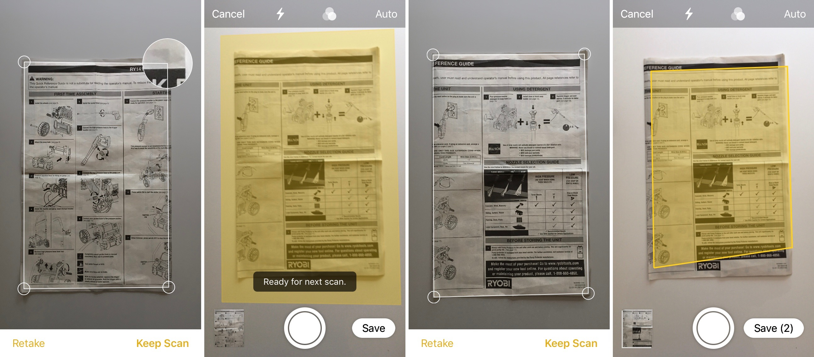 How to scan photos