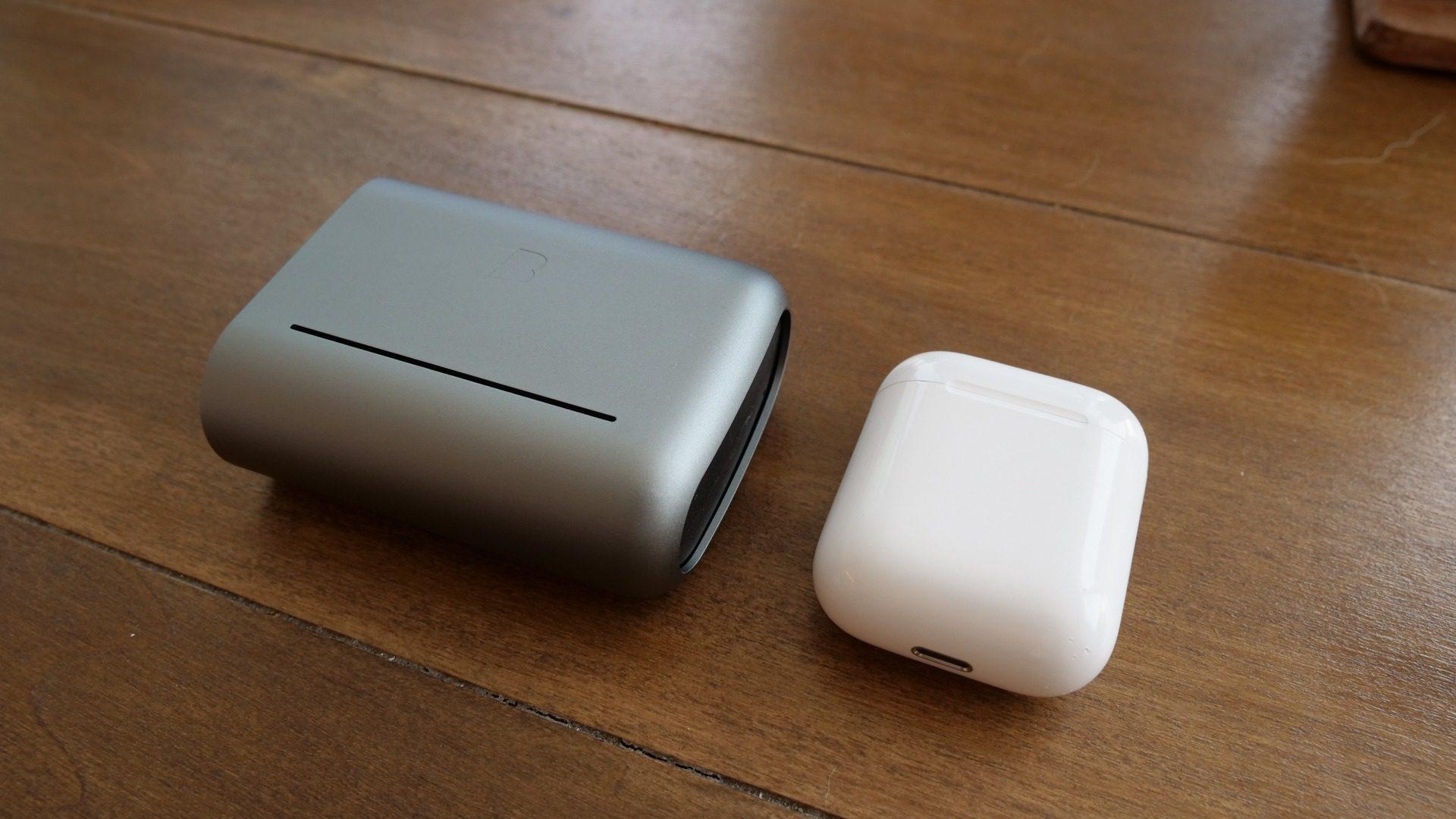 Bragi Dash Pro Case compared to AirPods